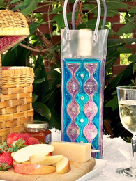 Blue Violet Chill It Wine Bag