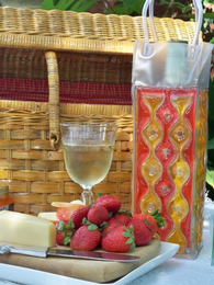 Red Orange Chill It Wine Bag